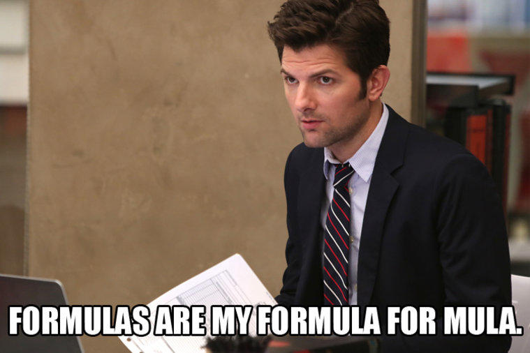 Parks and Rec accounting meme